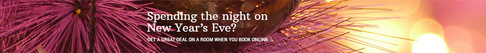 Spending the night on New Year's Eve? Get a great deal on a room when you book online